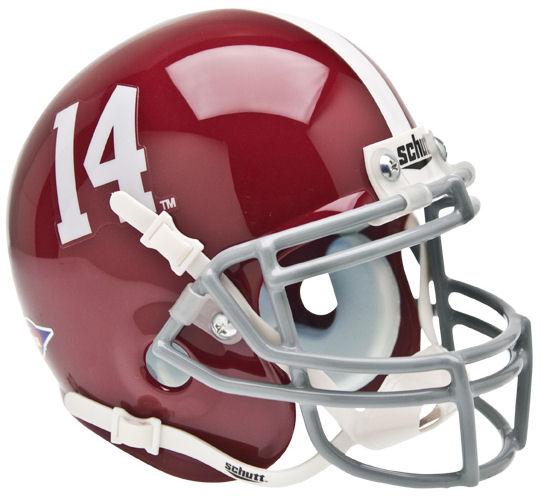 Alabama Crimson Tide Authentic College Football Helmet Schutt Mini Football Helmet Alabama Crimson Tide Football Helmets