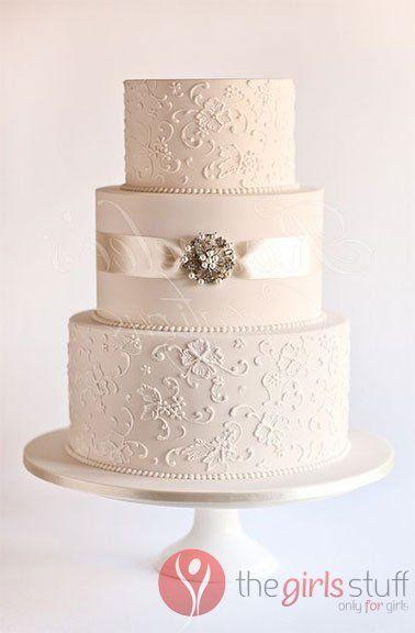 Vintage Lace Wedding Cake Designs