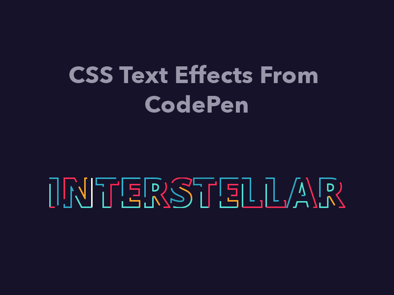 Css Text Effects From Codepen Text Animation Sketch App Animate Css
