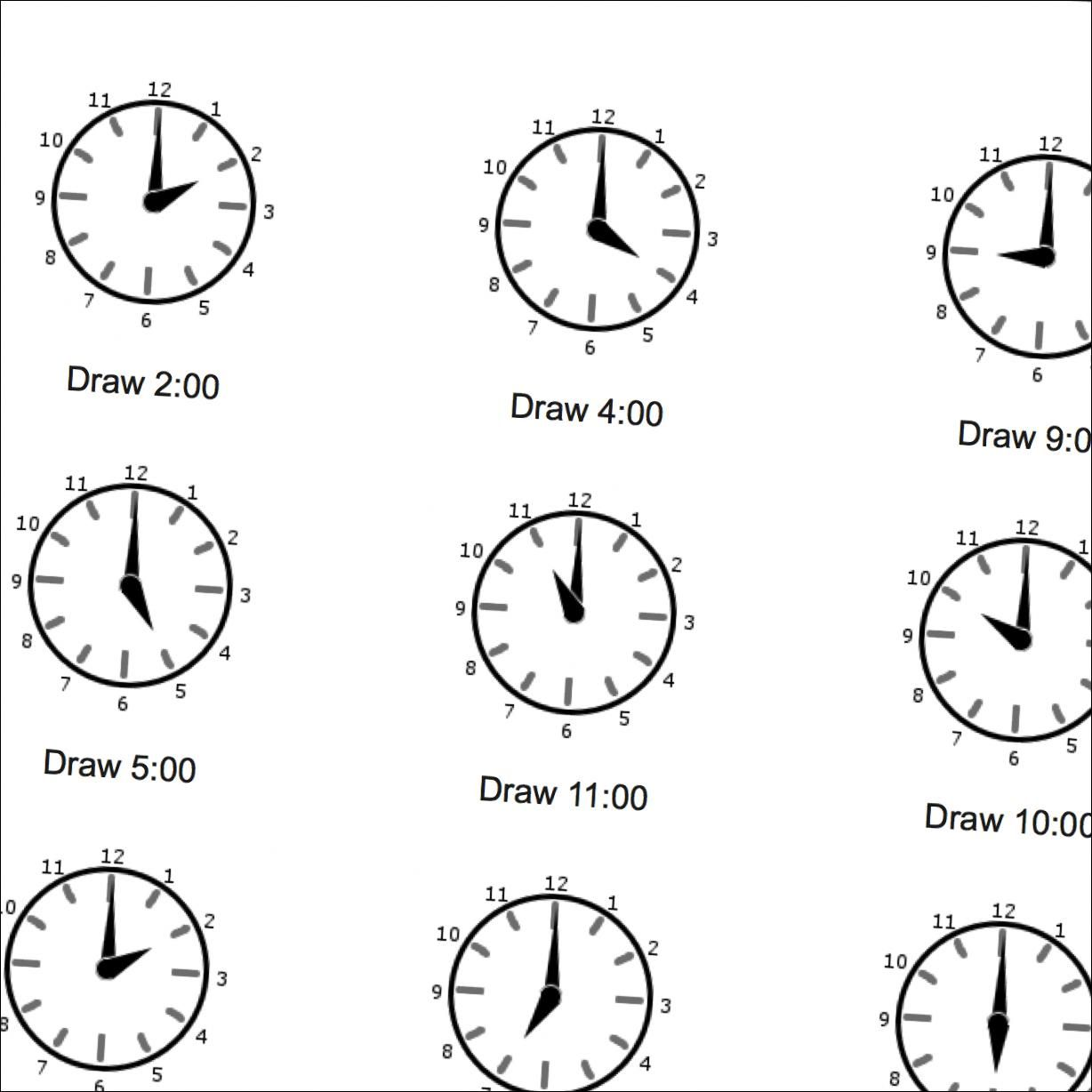 Og Time Math Worksheets Full Hours