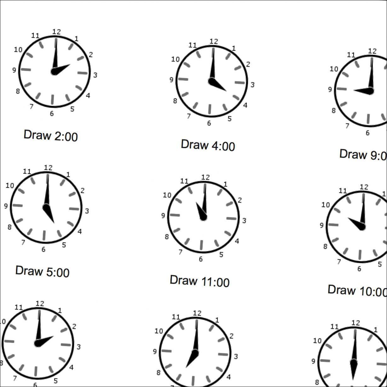 Og Time Math Worksheets Full Hours
