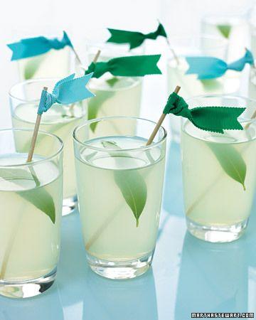 pear lemon fizz cocktail
