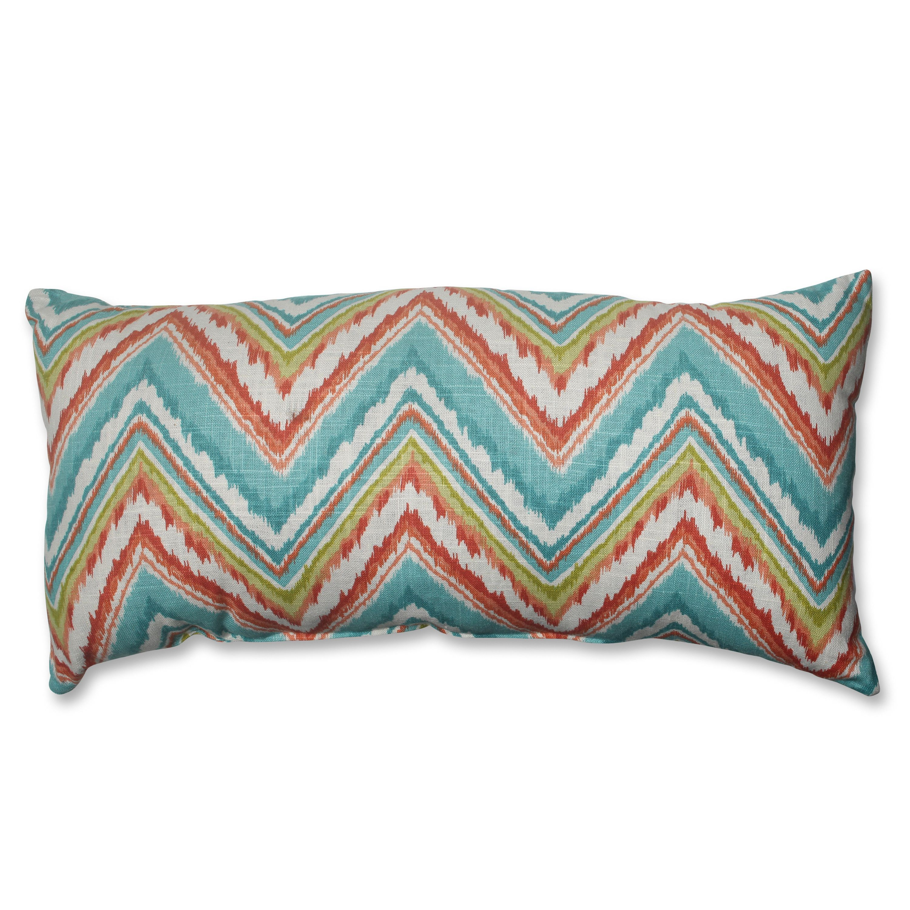 If you're looking to inject your room with fun, you can't go wrong with this colorful throw pillow. This extra-long bolster-style pillow features an all-over chevron design and is sized just right to put under your head while napping and watching TV.