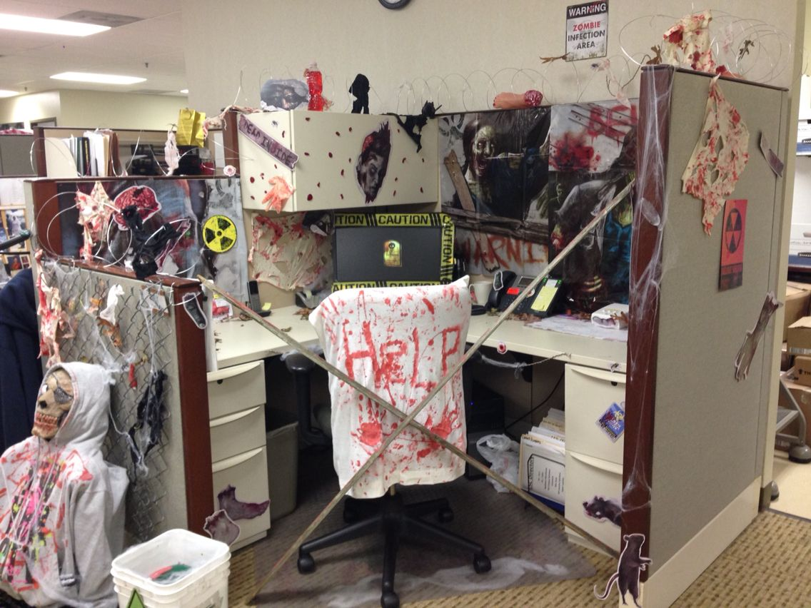 Decorating Ideas > Halloween Cubicle Decoration Idea From The Walking Dead  ~ 103118_Halloween Decorating Cubicle Ideas