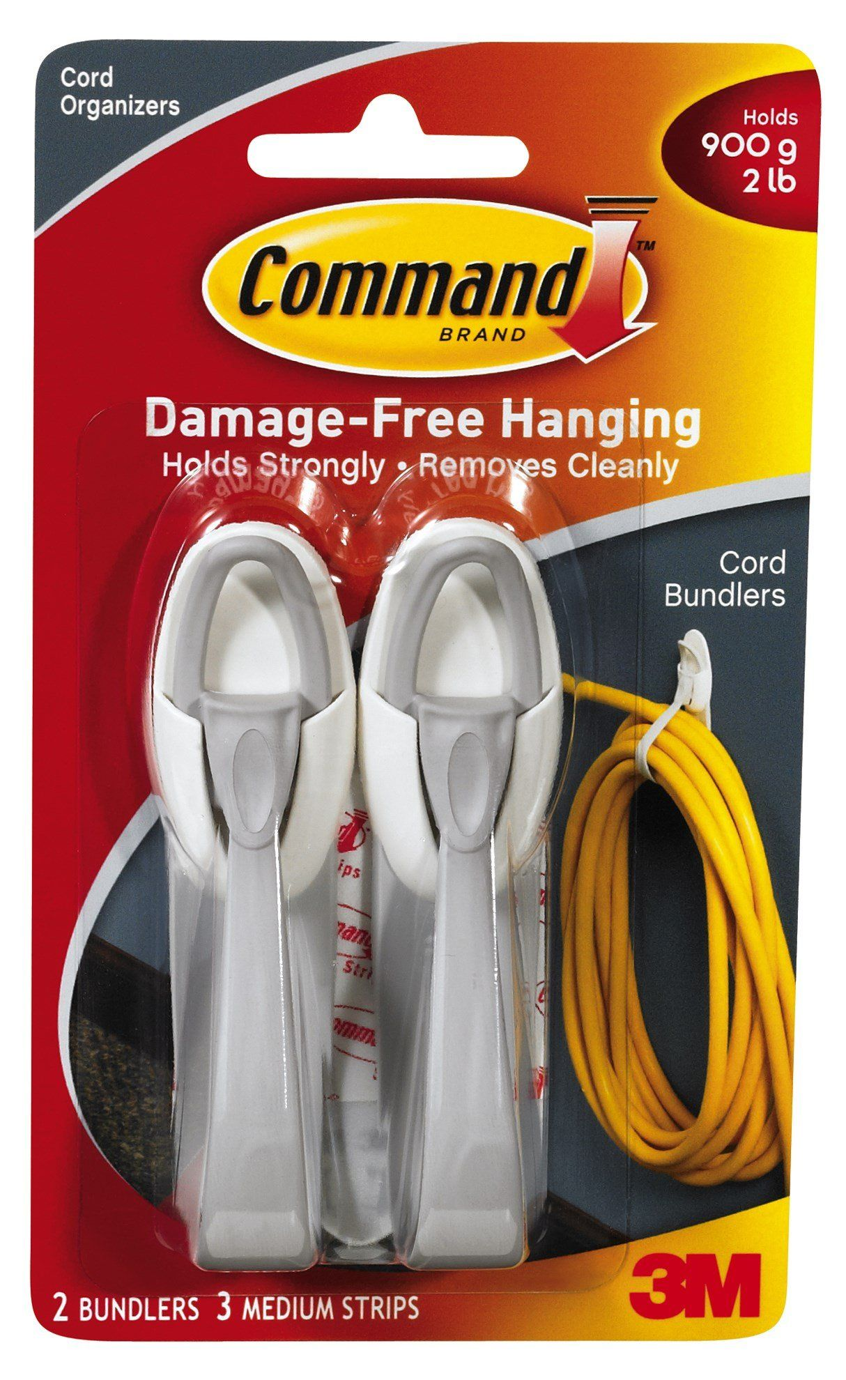 Command strips 17304es cord bundlers 2 count with command