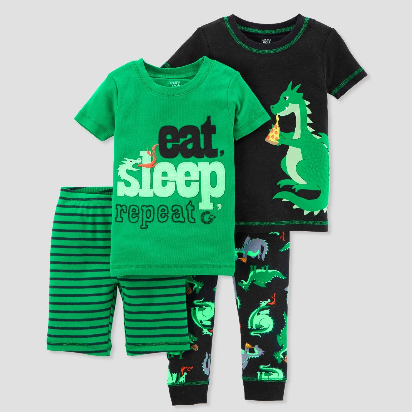 d5ea918811cb Toddler Boys  4pc Pizza Dragon Pajama Set - Just One You® made by ...
