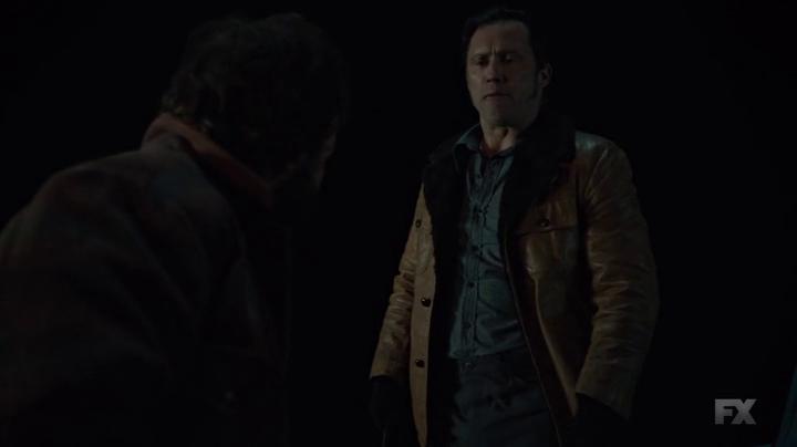 """Fargo 2x06 """"Rhinoceros"""" - Dodd Gerhardt (Jeffrey Donovan) & Bear Gerhardt (Angus Sampson)"""