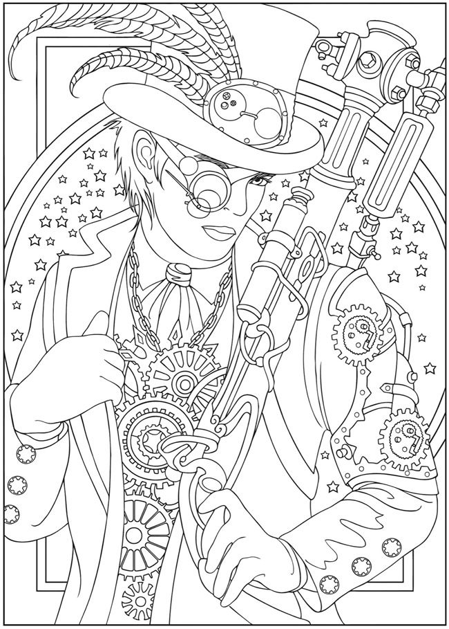 Creative Haven Steampunk Designs Coloring Book Dover Publications