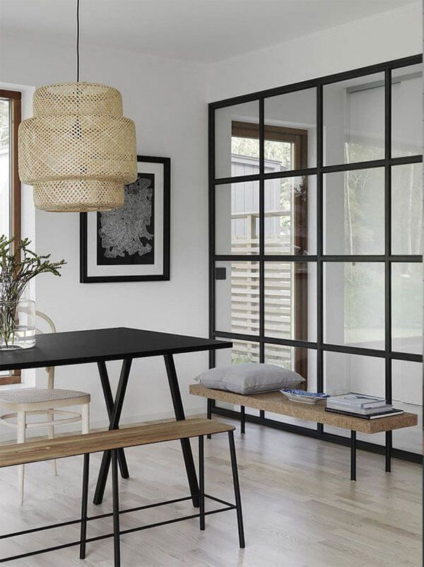 Glass and steel frame, adult minimal partition-VIP WORKS