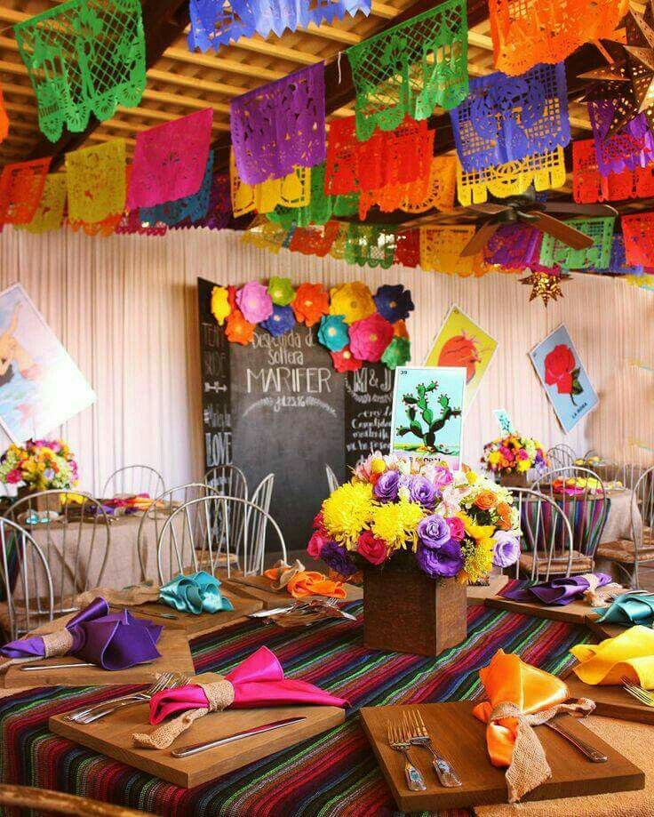 Pin de tania khan en decoracin pinterest noche mexicana decoracin despedidas de soltera mexicanasdespedidas solterabodas altavistaventures Gallery