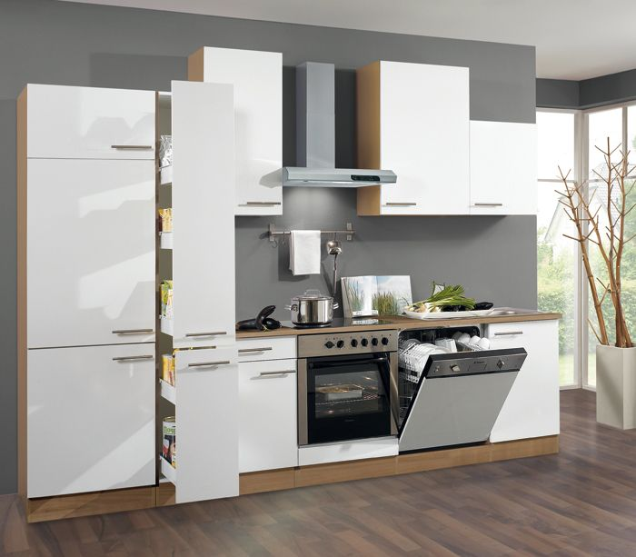 ROLLER Küchenblock MADRAS nussbaumweiß 300 cm Möbel