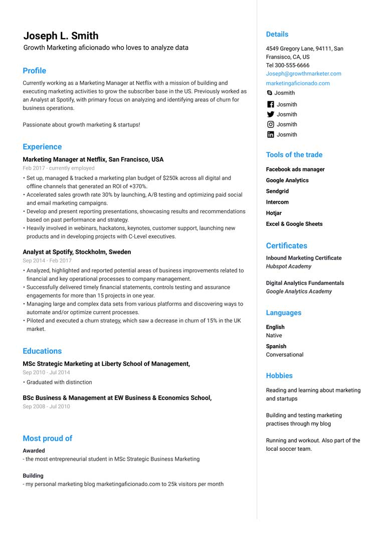Free Resume Templates for 2020 [Fill in, simple & easy] in