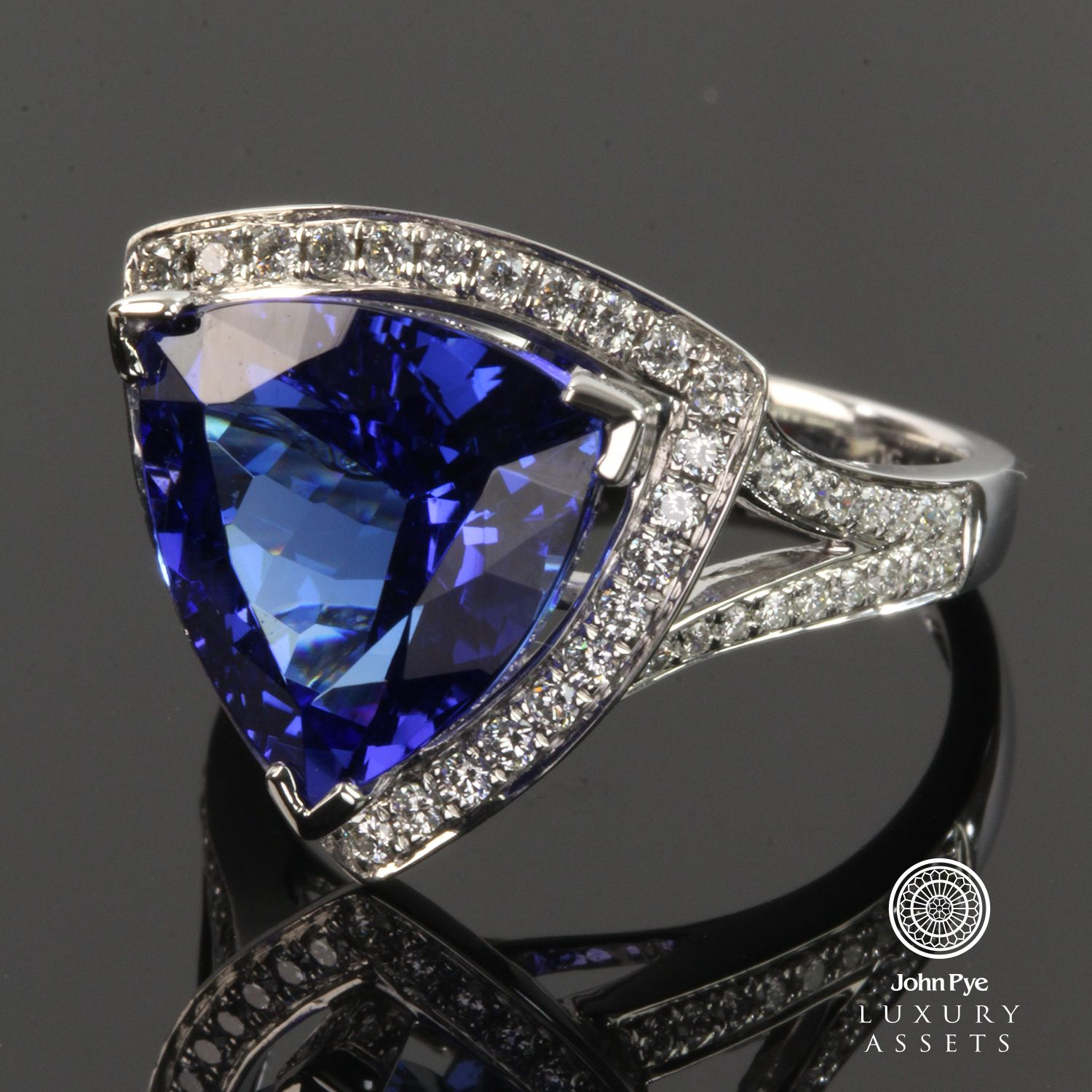 of within paris tanzanite rings view ring diamond cut carat trillion richland engagement photo