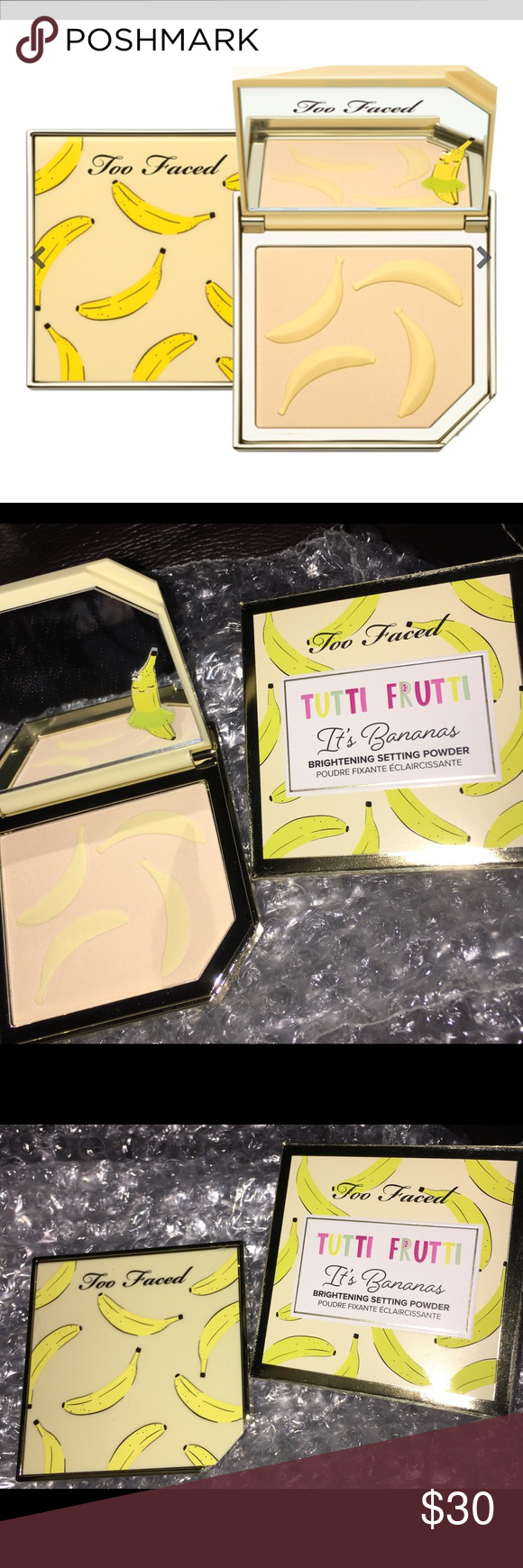 TOO FACED BANANA POWDER Brand new and guaranteed authentic