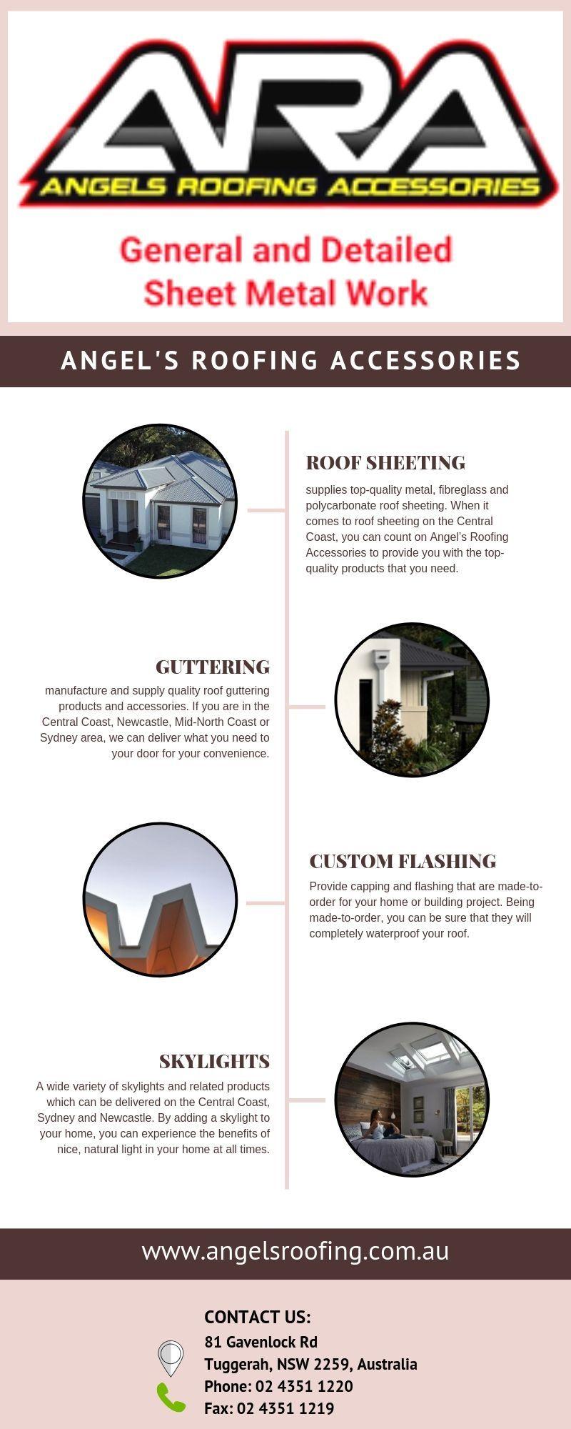 Angel's Roofing Accessories supplies top-quality metal, fiberglass