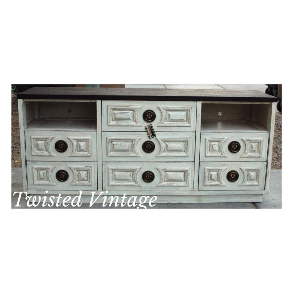 Custom refinished and built  Tv console  by Twisted Vintage AZ