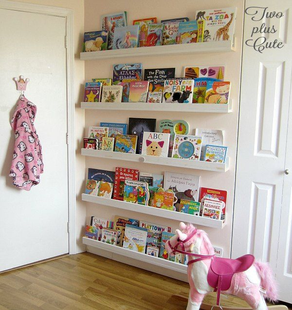 Book Shelving Ideas use the empty space behind your doors for books | diy bookcases