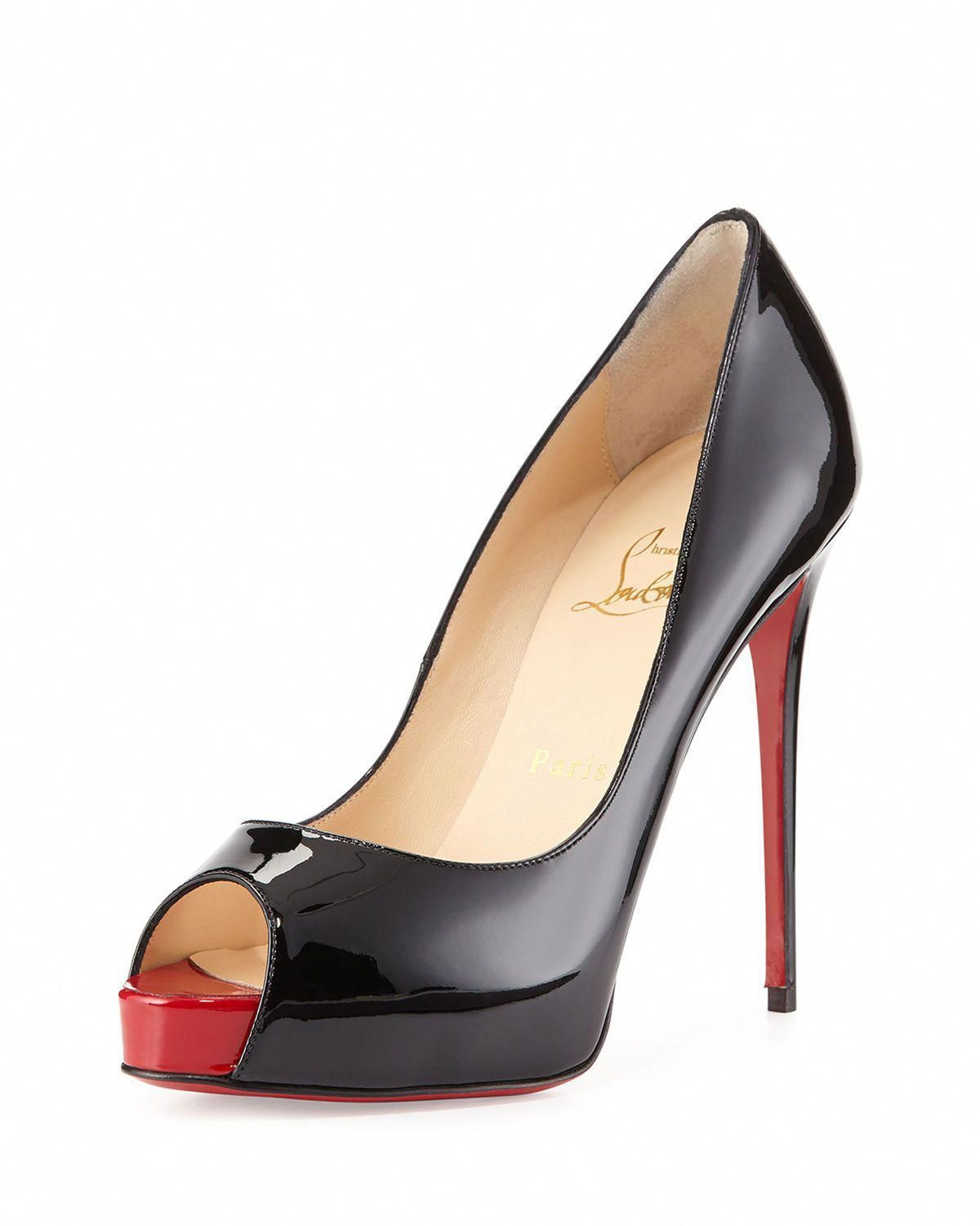 0fff64b5b0c6 Christian Louboutin New Very Prive Patent Red Sole Pump  ChristianLouboutin