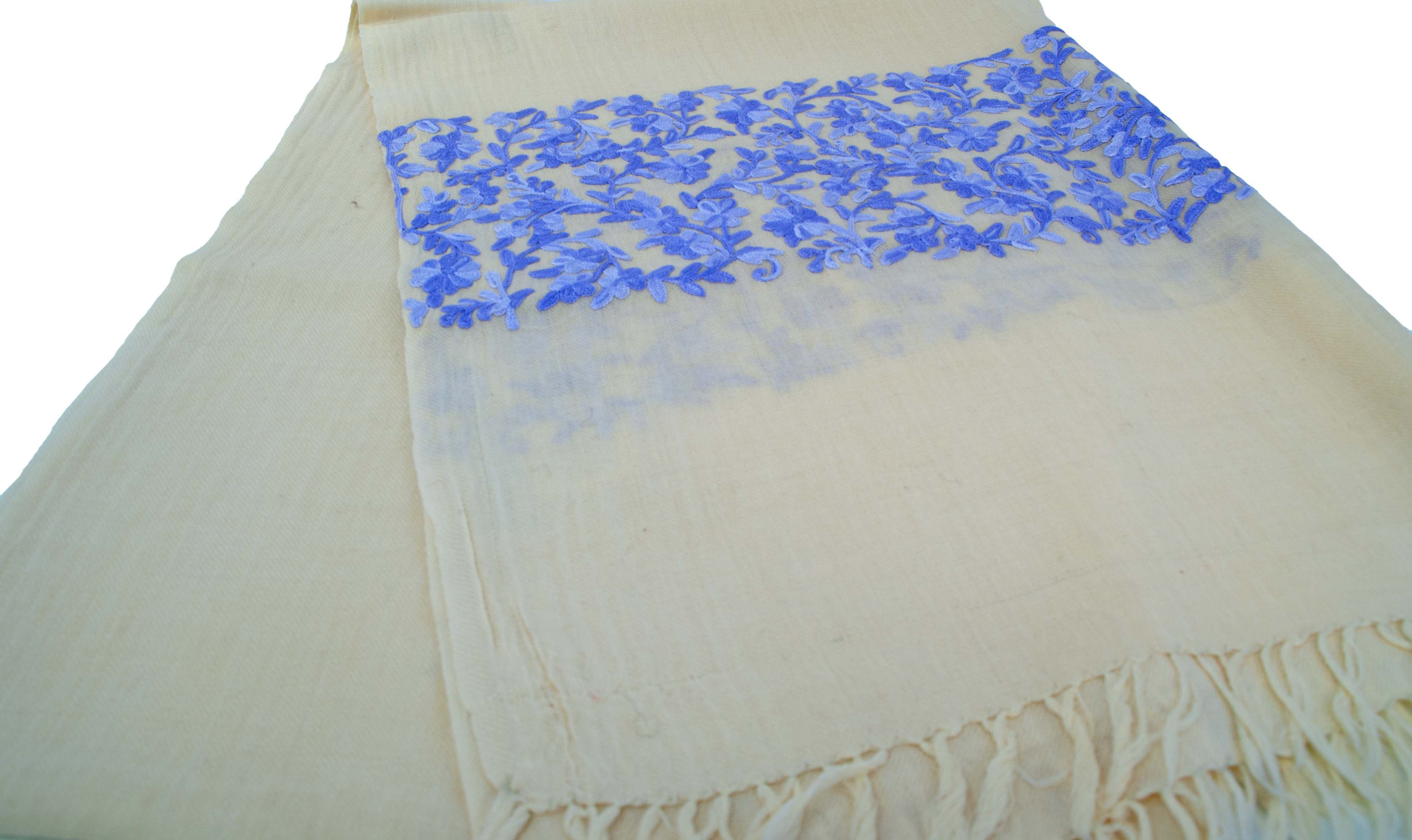 Embroidered woolen wrap. Great for a spring wedding