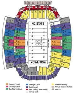 Nc state wolfpack football seating chart also raleigh rh pinterest