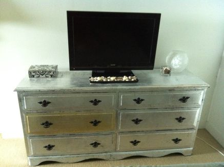 Diy Silver Leafing Furniture