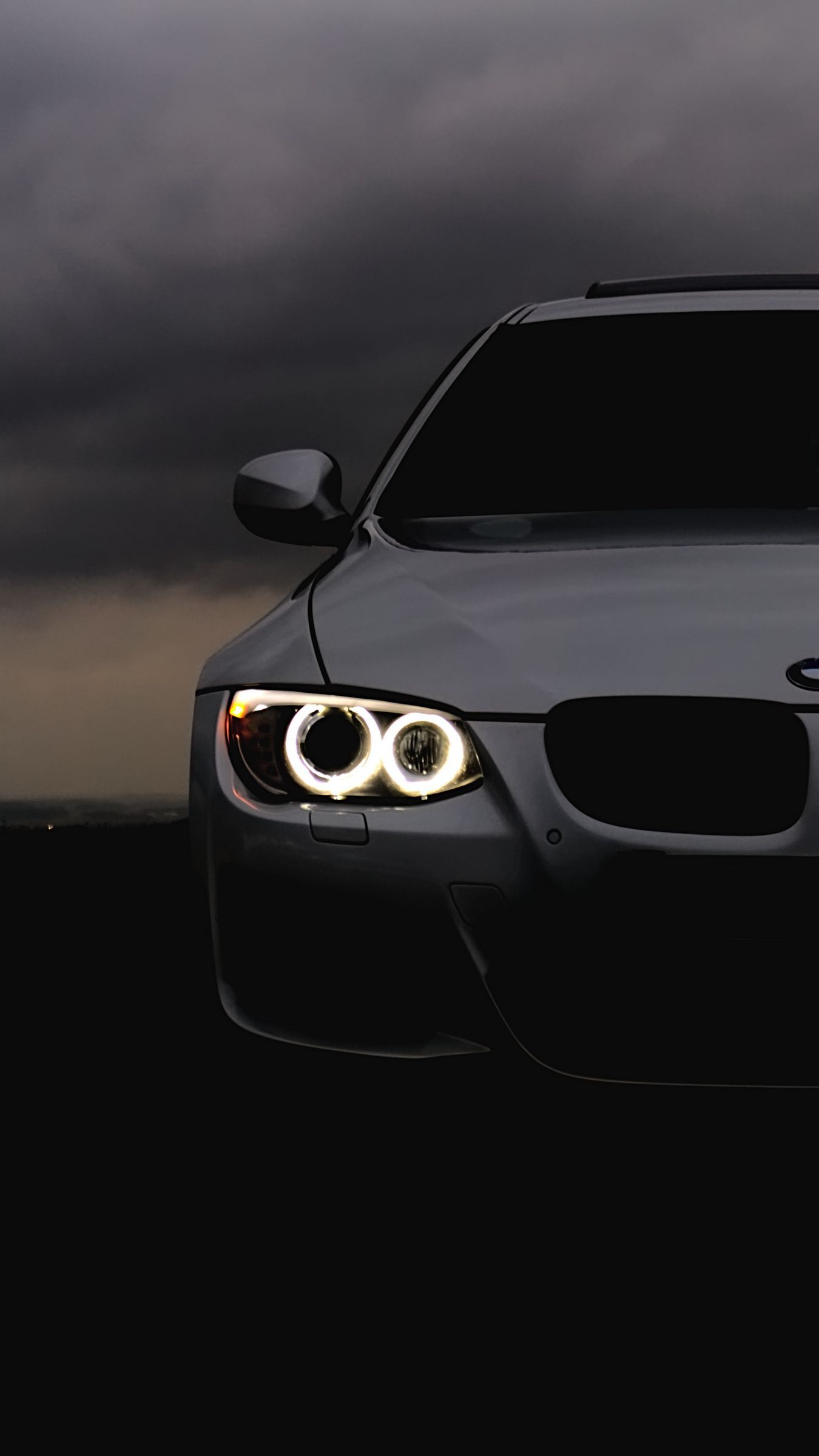 Bmw Headlights Car Cloudy Overcast Wallpaper In 2021 Bmw Bmw Wallpapers Car