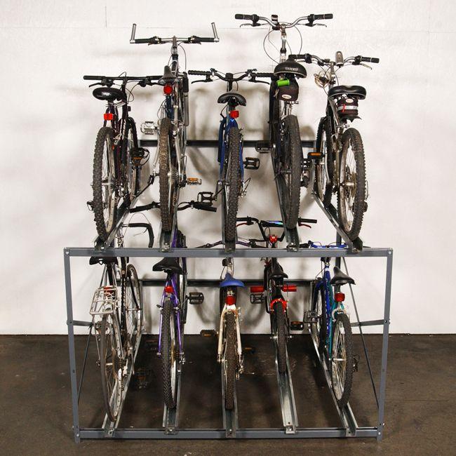 Bike Stacker Multiple Bicycle Storage Rack Wirecrafters Bicycle Storage Bike Storage Bicycle Storage Rack