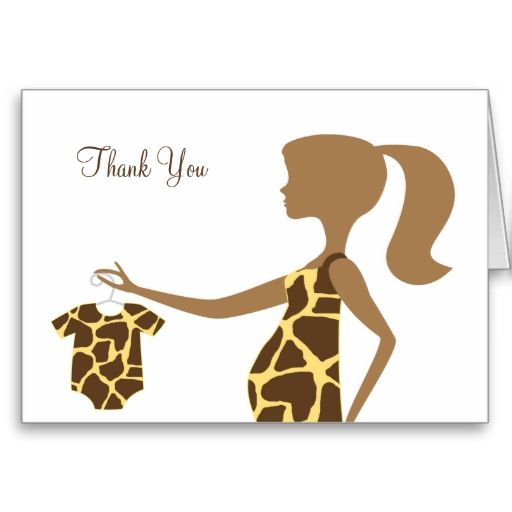 Chic Giraffe Print Baby Note Cards New Baby Congratulations Cards