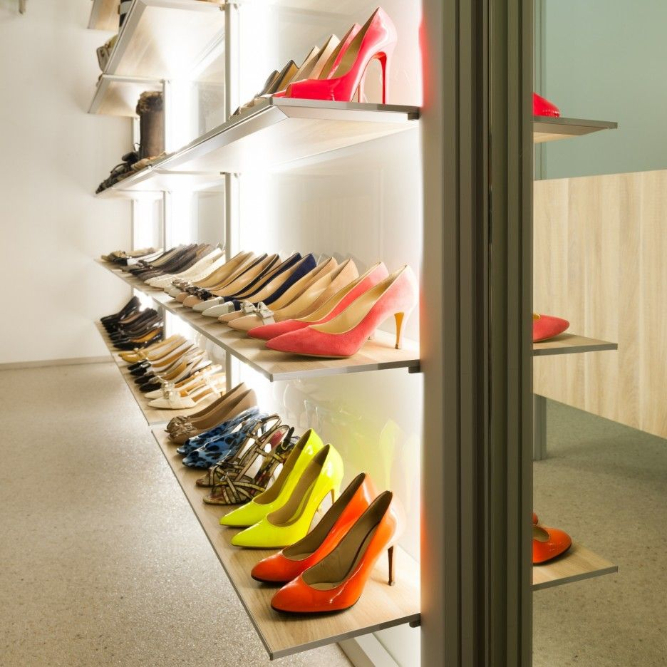 Impressive Shoe Storage With Elongated Shoes Rack Design Combined