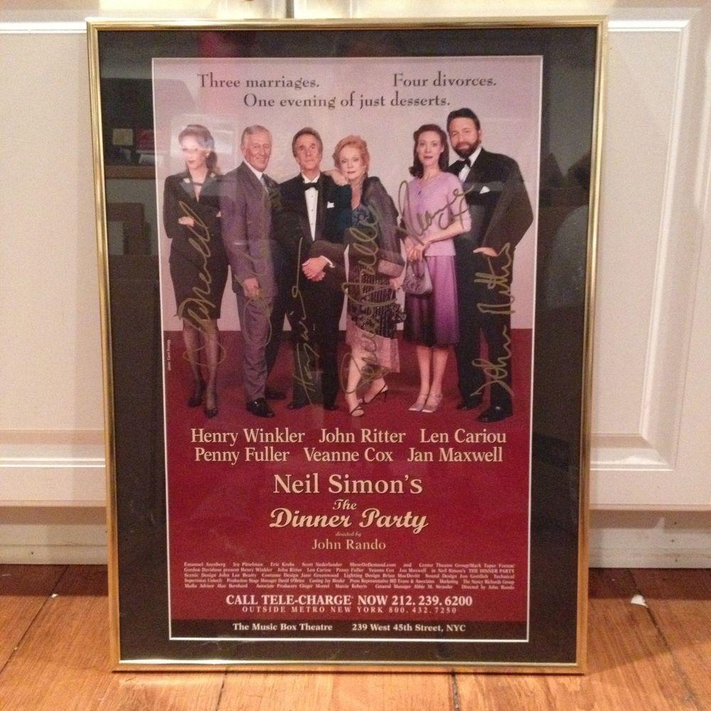 Henry winkler divorced - Autographed Theater Poster Neil Simon The Dinner Party Henry Winkler John Ritter
