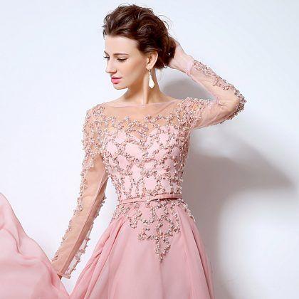 819f18b6b8bbf Long Sleeves Evening Dresses Prom Gowns | Women Fashion | Prom ...