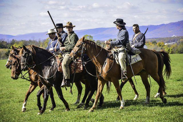 Battle of Cedar Creek reenactment 10/21/12 - Cavalry riders by SoundFocusPhotography, via Flickr