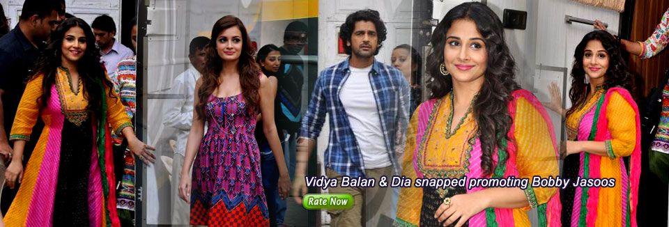 Vidya Balan & Dia snapped promoting Bobby Jasoos