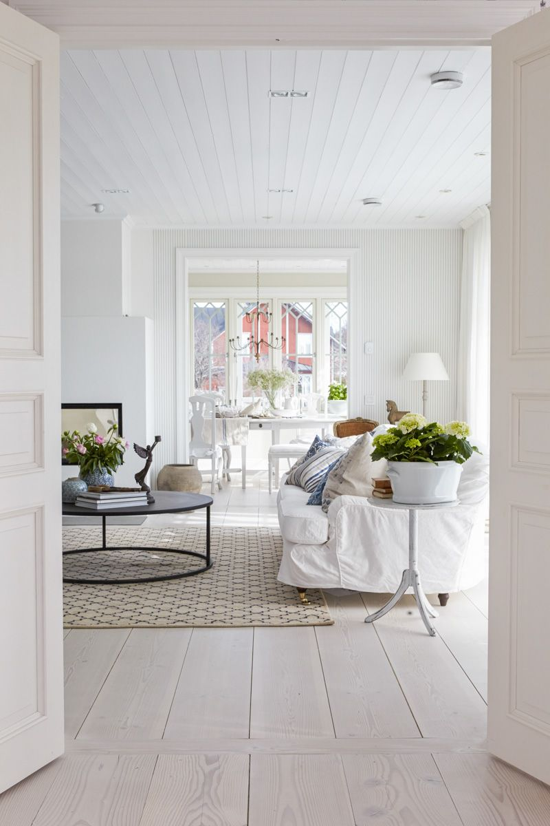 Gorgeous Scandinavian interior by Matilde & Co with wonderful pale wood flooring