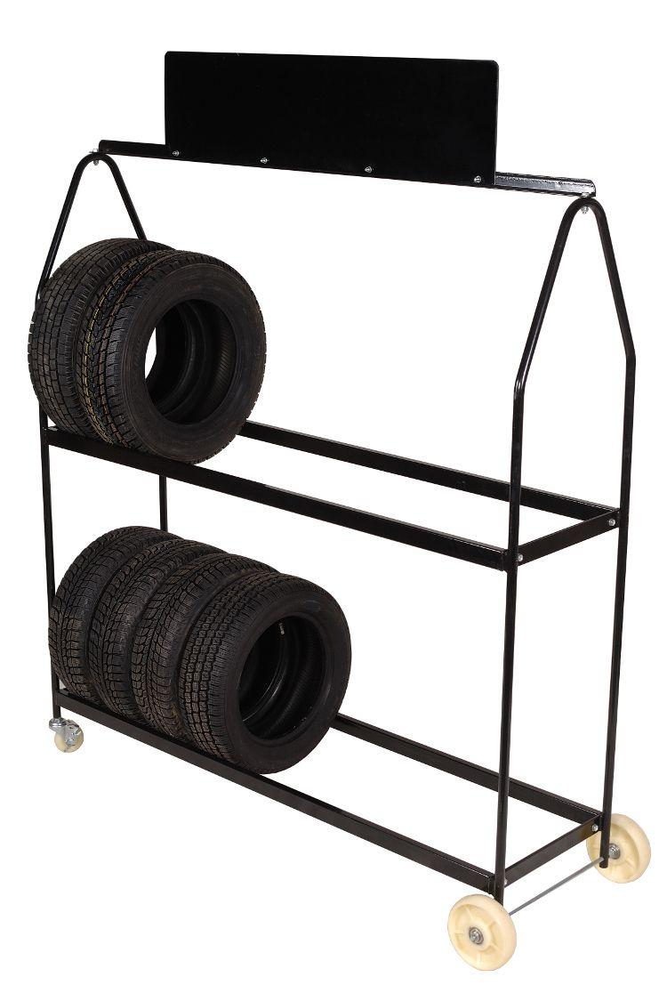 deluxe tire display rack on wheels tire storage racks in. Black Bedroom Furniture Sets. Home Design Ideas