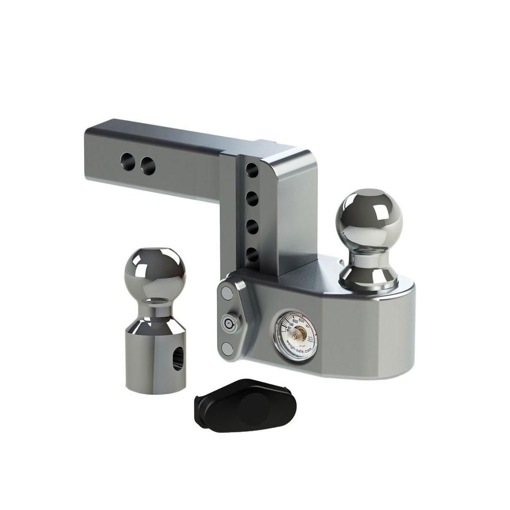 Weigh Safe 4 In Drop Adjustable Class V Ball Mount Receiver
