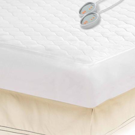 Beautyrest Cotton Blend Heated Mattress Pad Twin Walmart Com Heated Mattress Pad Electric Mattress Pad Mattress Pad