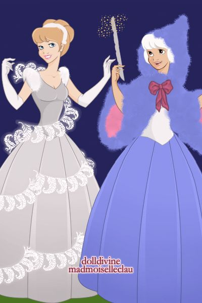 Cinderella and Fairy Godmother ~ by CarolineElyse ~ created using the Princess doll maker | DollDivine.com