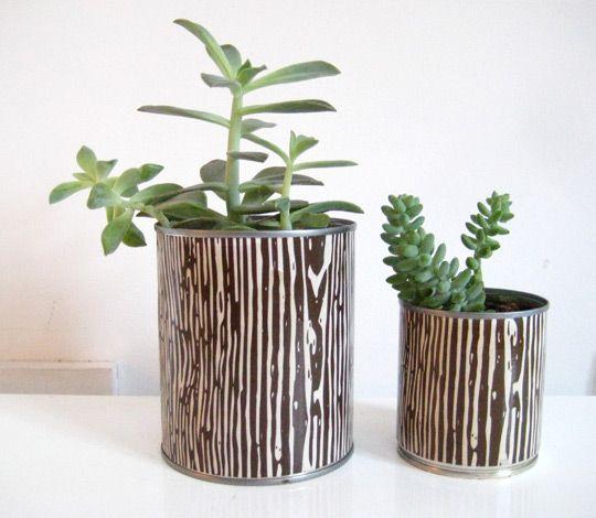 how to: make can planters | estilo africano, latas recicladas y