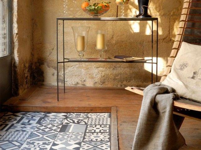 Tapis De Carreaux Floors Tiles Pinterest Tapis Carrelage - Parquet ou carrelage cuisine pour idees de deco de cuisine