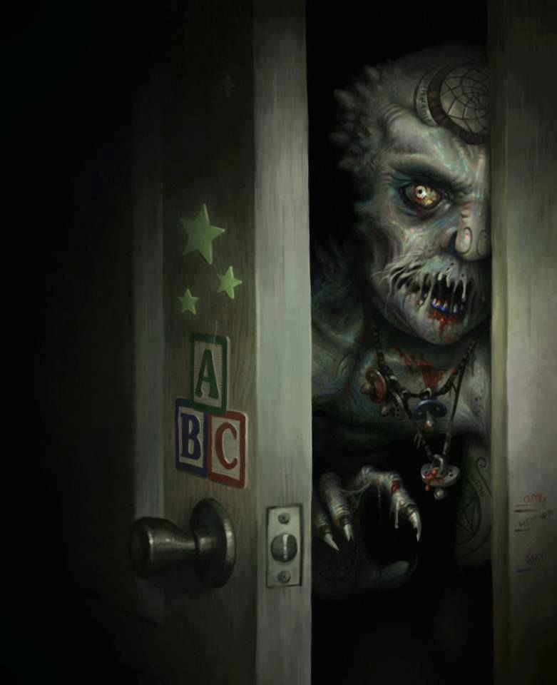 Monster In The Closet Bad To The Bone In 2019 Scary Art