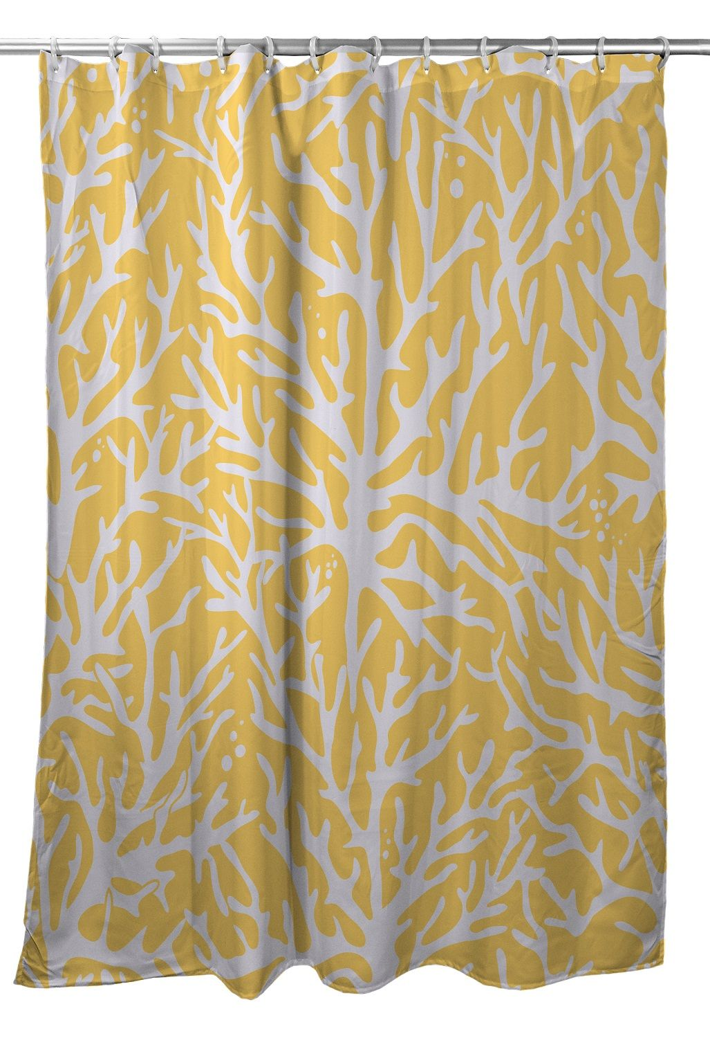 Sea Coral Shower Curtain Yellow Coral Shower Curtains Yellow