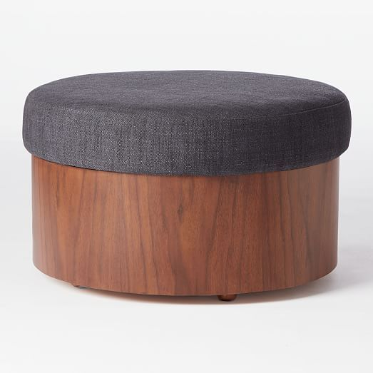 Upholstered Top Storage Ottoman Storage Ottoman Upholstered