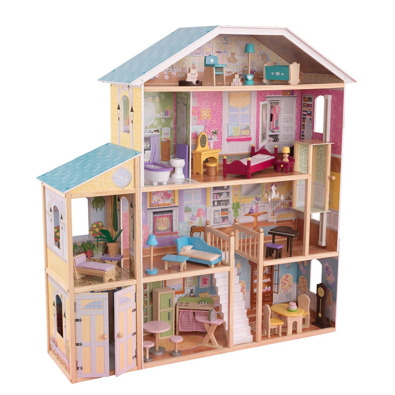 Amazon Com Kidkraft Majestic Mansion Dollhouse Toys Games