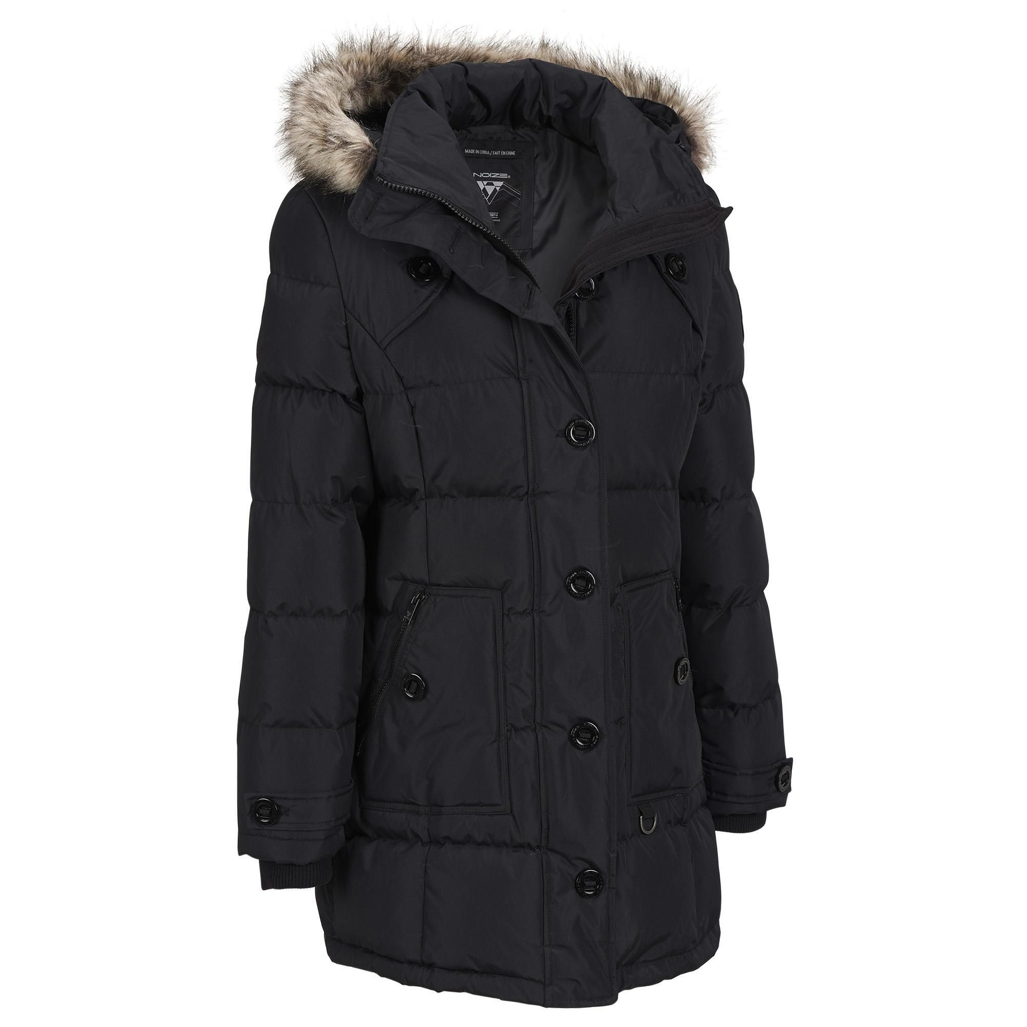 Noize Quilted Mid Length Puffy w/FauxFur Hood Was 550