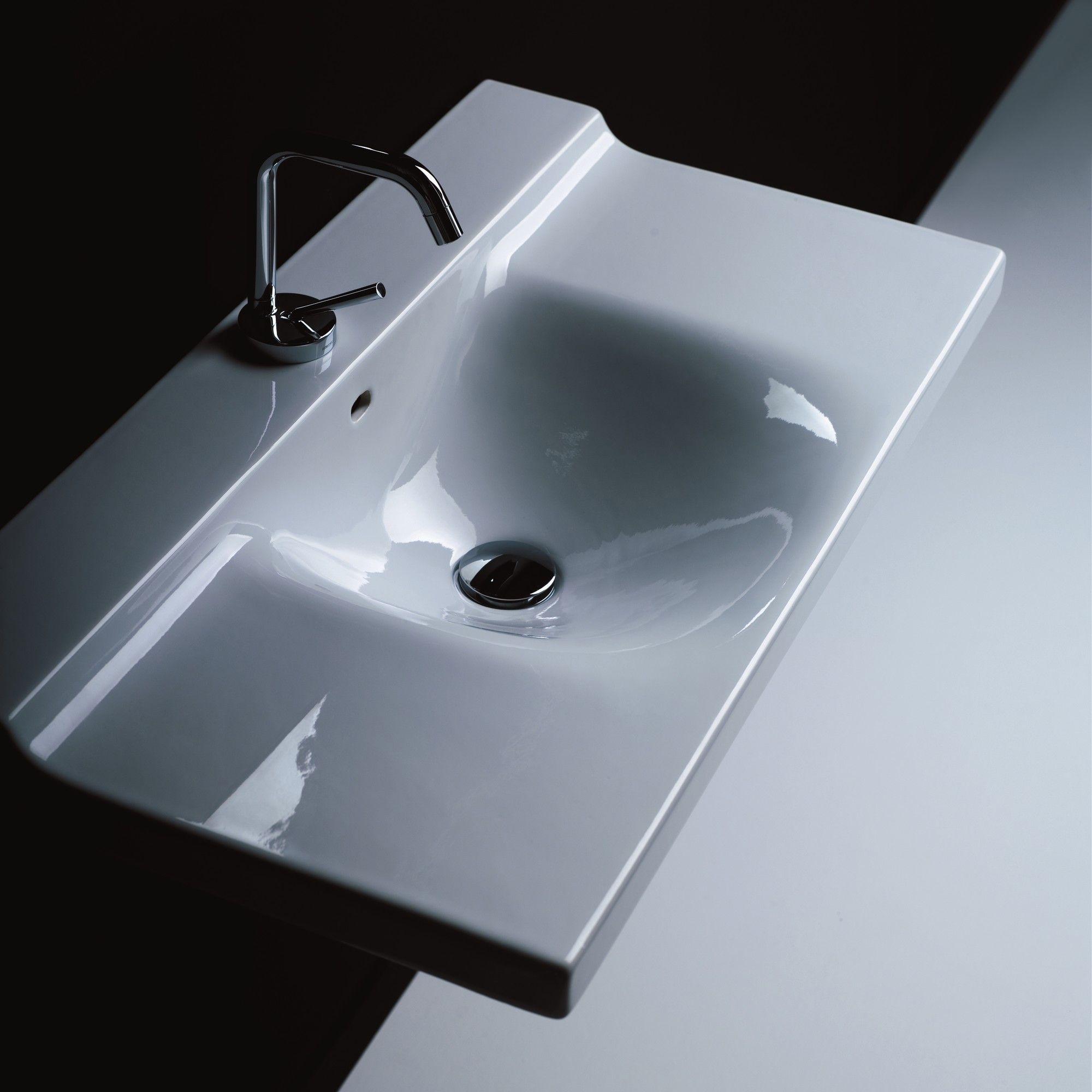 Buddy Ceramic Wall Mounted Bathroom Sink Wallmount