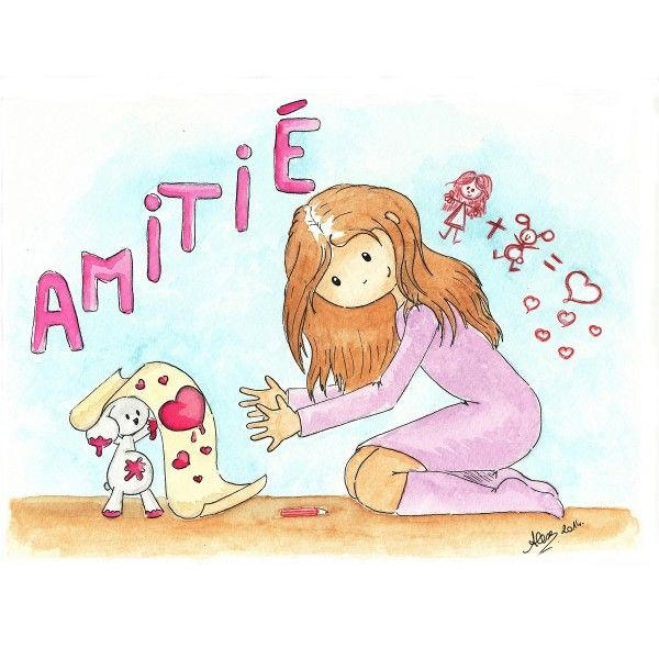 Aquarelle Amitie Doudou Lapin Creatrices Que J Aime Aquarelle