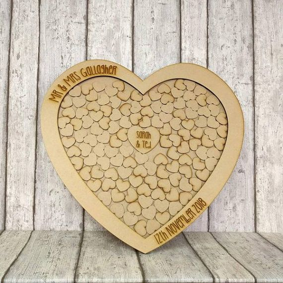 Wedding Guest Book Dropbox Large Wooden Heart By Forgetmeknotwed Wedding Guest Book Alternatives Wooden Wedding Guest Book Guest Book Alternatives