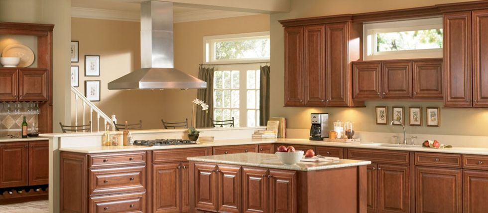 Collection mckinley species cherry color chocolate for Chocolate maple glaze kitchen cabinets