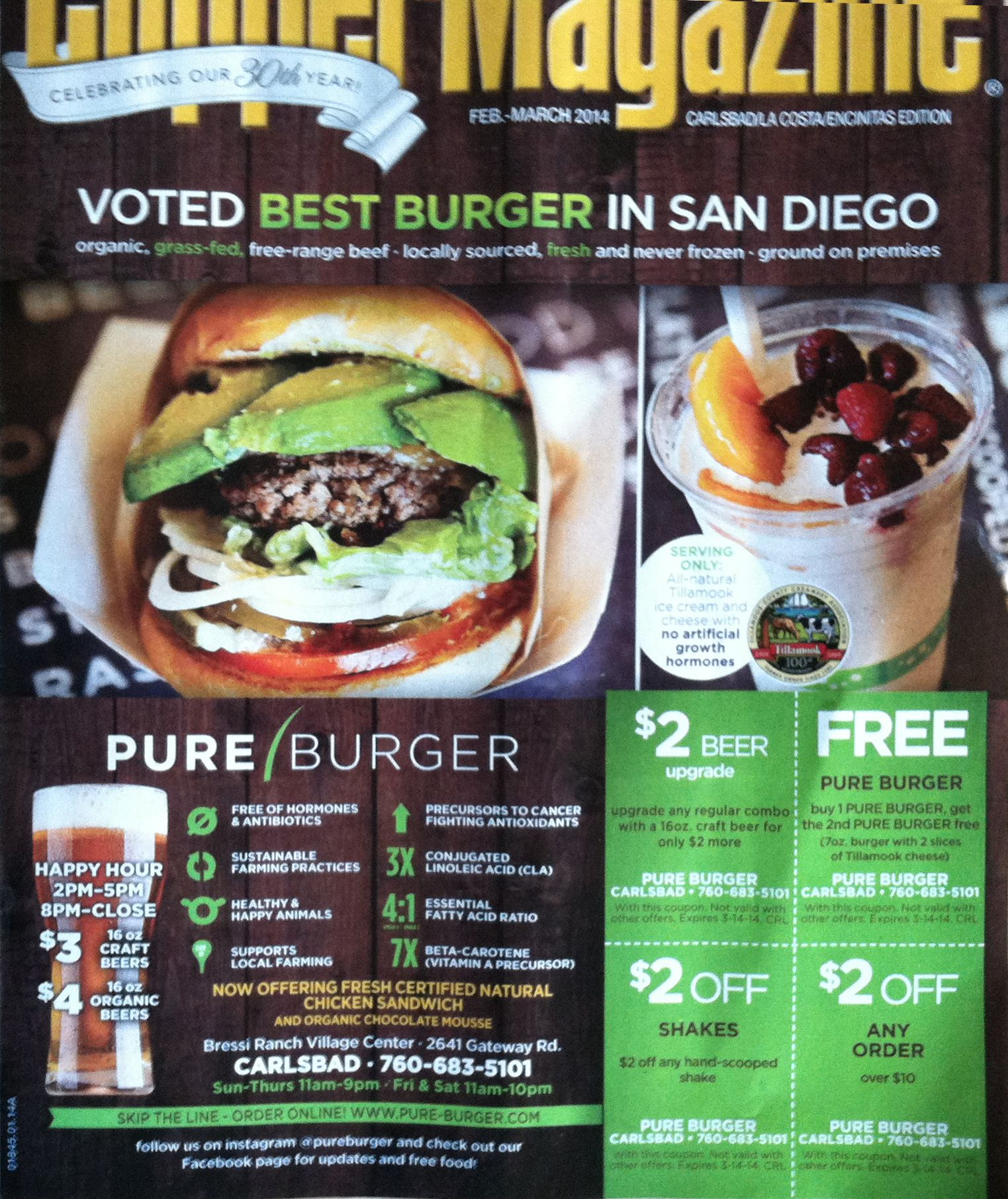 picture about Clipper Magazine Printable Coupons called Purely natural Burger print advert, include of Clipper Journal